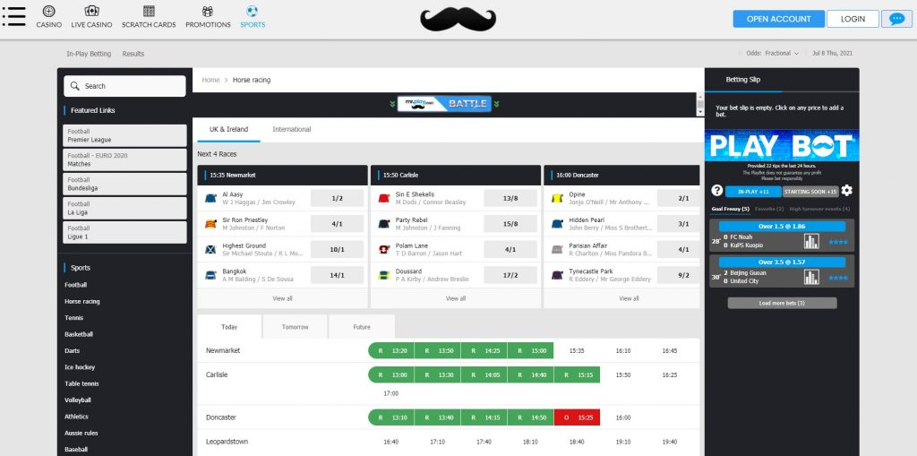 MrPlay Bonus Code & Horse Racing Offers